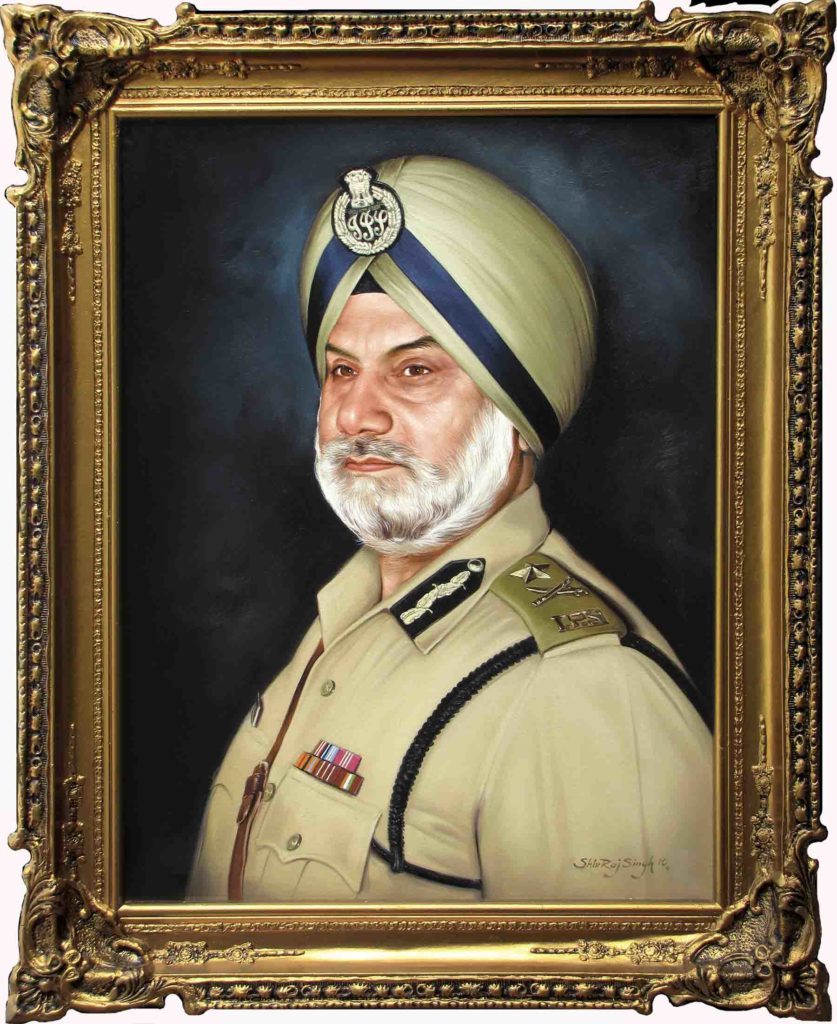 Portrait of A Sikh Officer